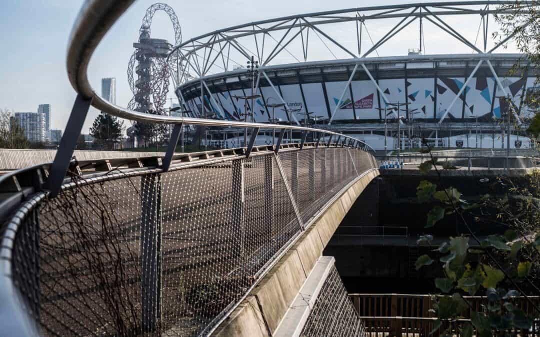 Webnet vid Queen Elizabeth Olympic Park