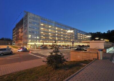 Metallfasader, Parkeringshus Krakow flygplats