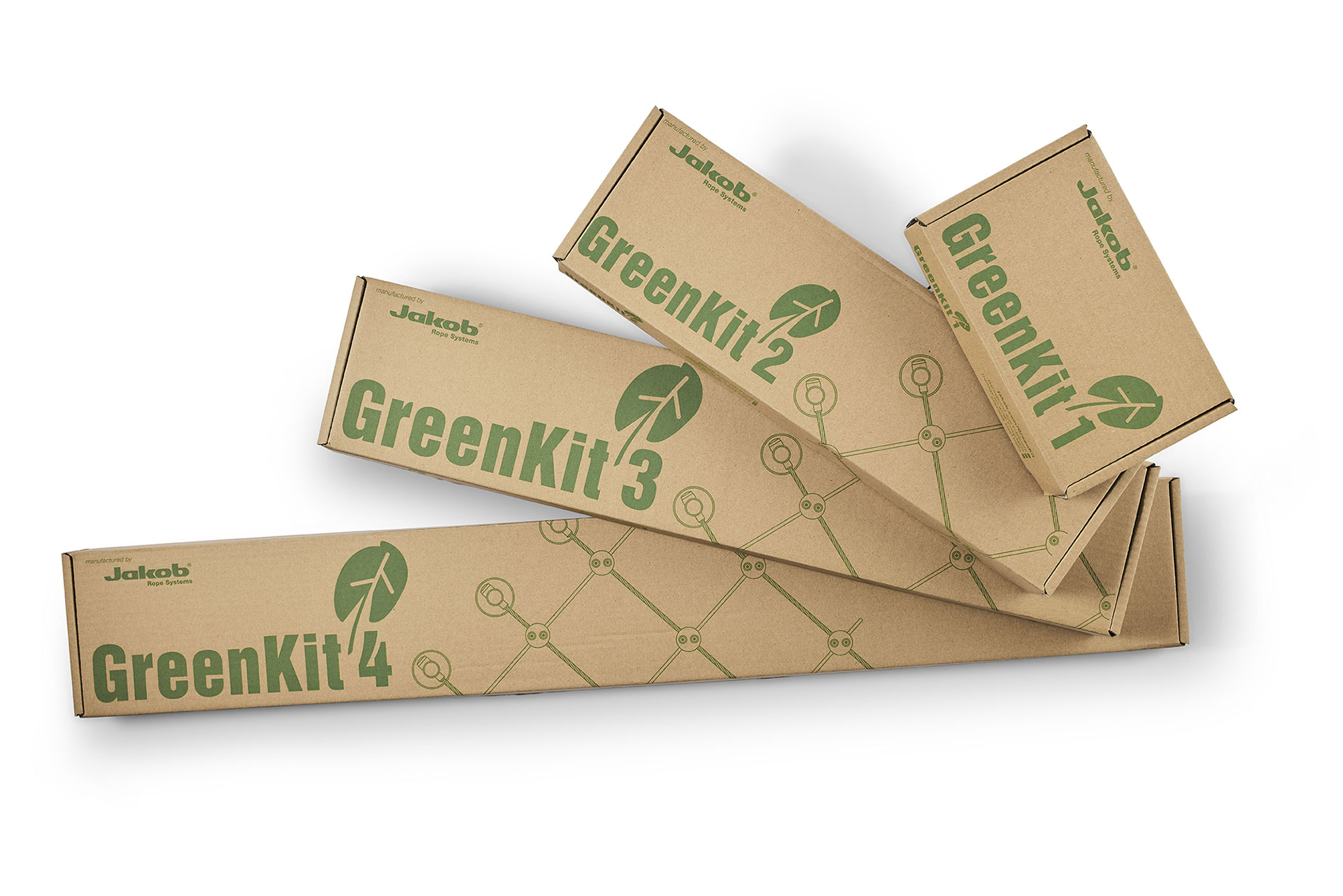 Jakob Rope System GreenKit forpackningar Packages