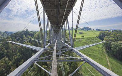 Säkerhetsnät vid Haggen Bridge