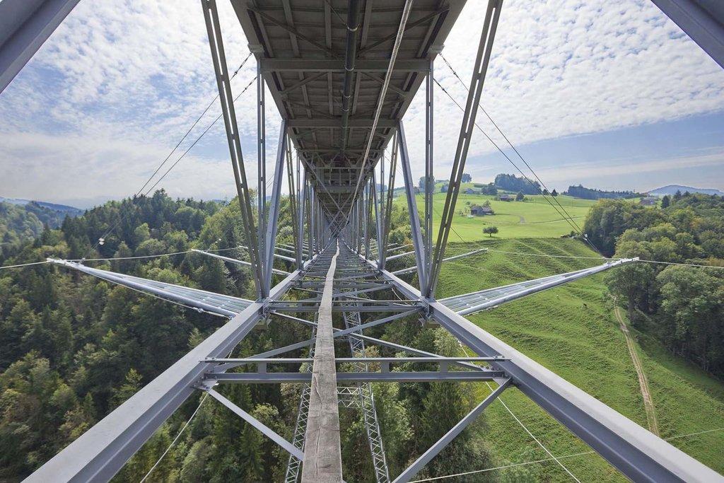 Jakob rope systems konstruktion för brosäkerhet vid Haggen Bridge
