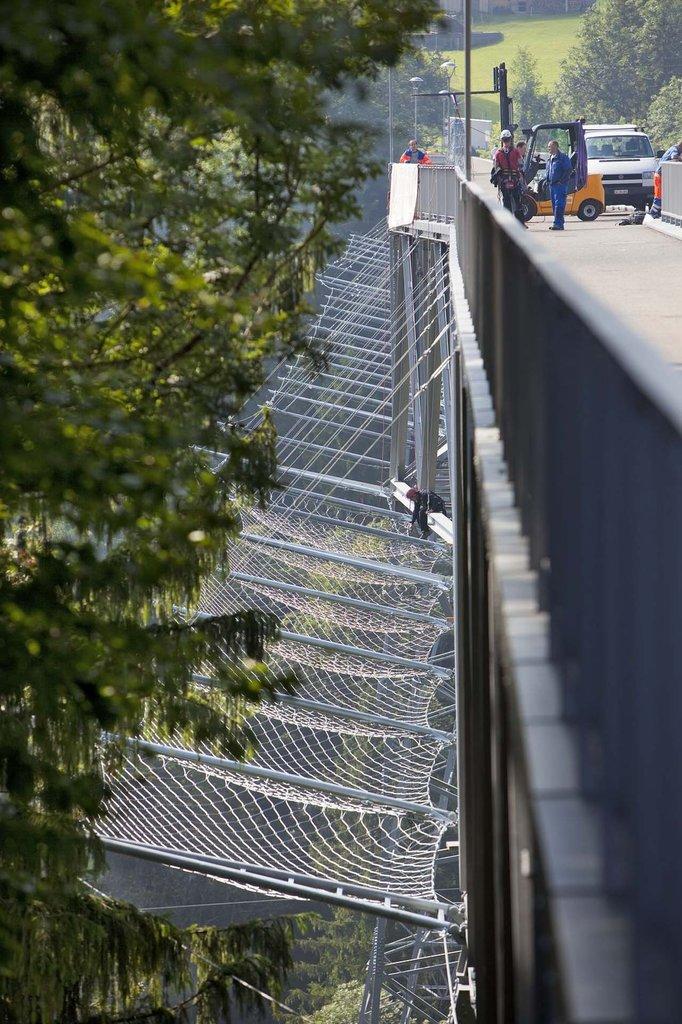 Jakob Rope systems säkerhetsnät vid Haggen Bridge