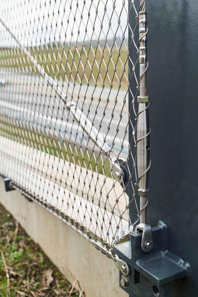 Detaljer i infästning av Webnet på skyddsnät