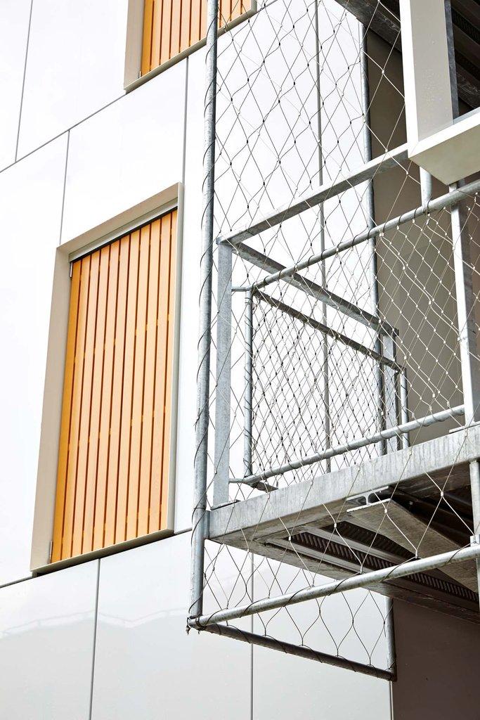 Skyddsräcken för balkonger med Webnet