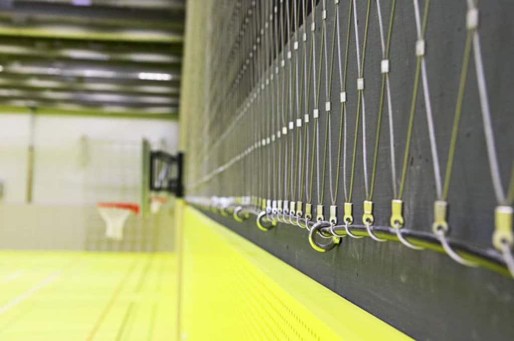 Webnet kan användas som stoppnät och skydd för bollar inom idrott