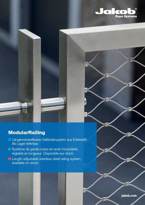 Jakob Rope systems Modular Railing steel railing system brochure