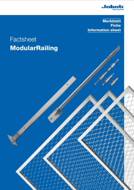 Jakob Rope systems Modular Railing steel railing system Fact and information sheet