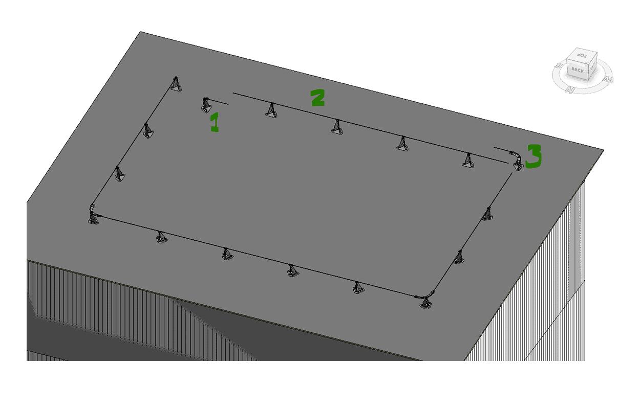 Exempelmontering vajersystem